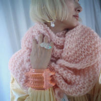 Mohair Big  Triangle  Scarf