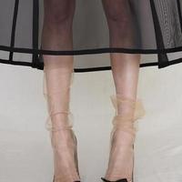 Pan & The Dream  Nude-back seam tulle socks