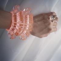 Crystal Clear Bracelet 【 pink】