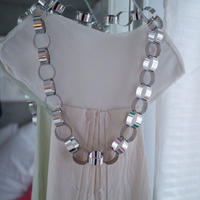 Big  chain necklace  silver