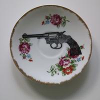 """vintage porselein plate""【F】"