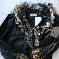 "Foil lace dress black""YUKI FUJISAWA"""
