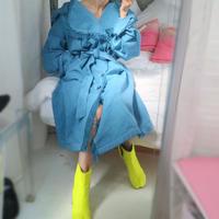 Blue big coat