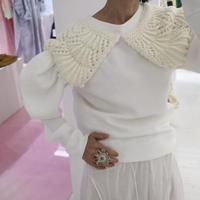 """Michaela Buerger"" ROSIE Sweater WHITE"