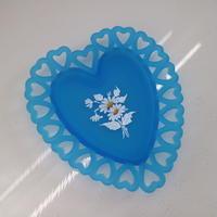vintage tray heart
