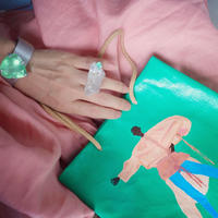 "BIRDMAN & GIGINA ART BAG""emerald"""