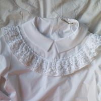 HAND KNITTED RUFFLE  BLOUSE