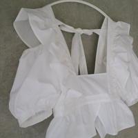 pure apron blouse  white