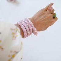 Olnella Aprogio Spral snake bangle pink