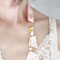 Joke Schole ceramic necklace light pink