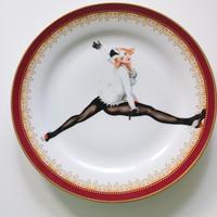 """vintage porselein plate""【G】"