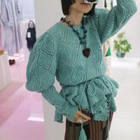 """Michaela Buerger"" IMPERIA  Knit Pullover LIGHT GREEN"