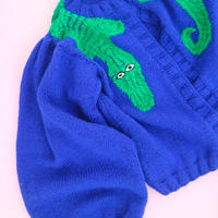 Sofio Gongli  Crocodile hand knit cardigan