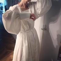 """JUN MIKAMI""アルモブロード スクエアネックドレス"