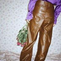 JOHN wide leg vegan leather trousers