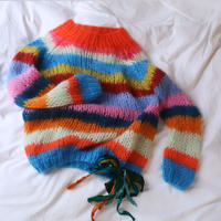 Mohair Basic Striped Sweater