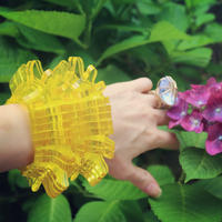 "Crystal Clear  Bracelet""Yellow"""