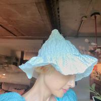"""Flower bell hat  """"white"""""""