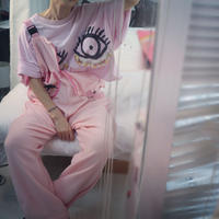 "Side-zip overall pink  ""SIIILON"""