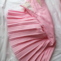open pleated skirt pink