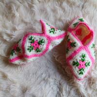 Hand Knit Socks  Pink