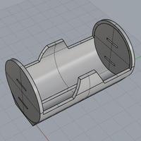 3Dデータ 単一電池ホルダー 単一つつむ君