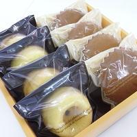 自然栽培小麦のマドレーヌ(はちみつレモン)4個&焼きドーナツ(プレーン)4個