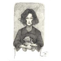 横田華乃 描き下ろし素描「浮-Nancy-」