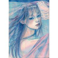 川村千紘 美少女に会いたいⅡ展示作品「覚悟纏いて」
