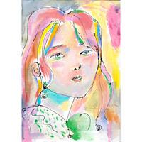 岡本真実 原画「フランスの娘」