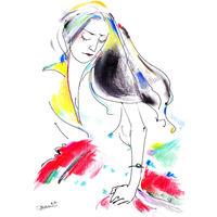岡本真実 原画「Tokyo cinderella girl」
