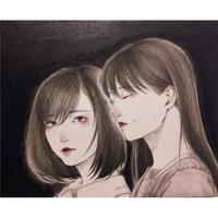 加藤弓絵 日本画「安寧」