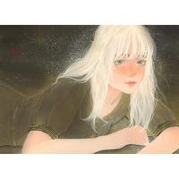 吉森百子 オリジナル絵画 「刹那に煌めく」