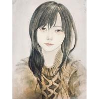 加藤弓絵 原画「冬芽」