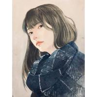 加藤弓絵 複製原画「冬月」