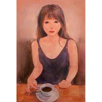 赤崎りおの 油彩画 原画 「rouge」