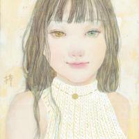 織部梓 日本画 原画 「SUN」
