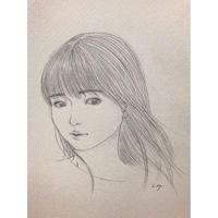 村上 恵実 描き下ろし素描「風」