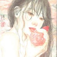 織部梓 原画「strawberry moon」
