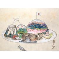 町田雨子 日本画8人展出展作品 「四季山水お子様ランチ」