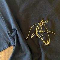 馬刺繍7分袖
