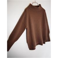 【日本製】アンゴラ混イレギュラースタンドプルオーバー ( Whole Garment Knit )