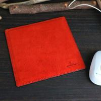 マウスパッド ※Made in Japanレザー「サヴール」 ※革色レッド