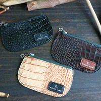 ZIPカードケース ※イタリアンレザーLIPARI(リパリ) 革色ダークブラウン・ブラック・クリームベージュ