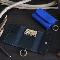 6連キーケース ※イタリアンレザーオペラ 革色ブラック・ブルー