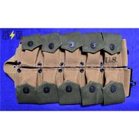 【複製品】WW2米軍M1923カートリッジ・ベルト(フラップグリーン)