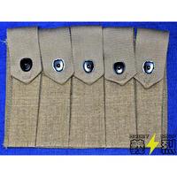 【複製品】WW2米陸軍トンプソンマガジンポーチ5連