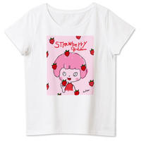 女性用girlちゃんTシャツ(苺大好き!)