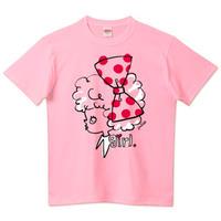 girlちゃんTシャツ(大きなリボンのガール(ピンク))