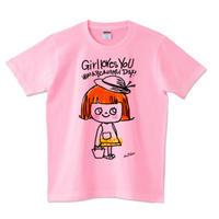 girlちゃんTシャツ(麦わら帽子でお出かけ)
